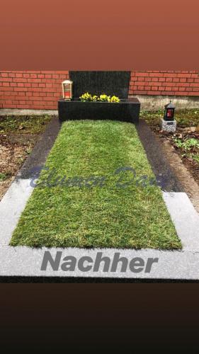 Grab mit Rasen inklusive Erdarbeit -Nachher