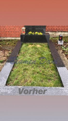 Grab mit Rasen (alt)  - Vorher
