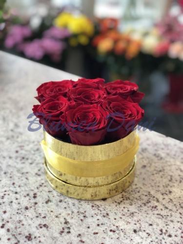 Rosenbox - Rot/Gold