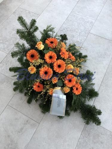 Bukett Gerbera/Rosen orange
